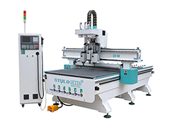 Pneumatic automatic tool changer CNC router with three spindl