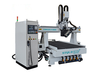 4 axis swing head CNC Router with linear auto tool changer