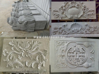 Samples of CNC stone engraving router machine