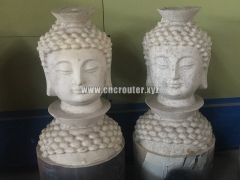 Stone column project samples by CNC stone carving machine