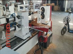 Double axis CNC wood lathe machine for baseball bats making