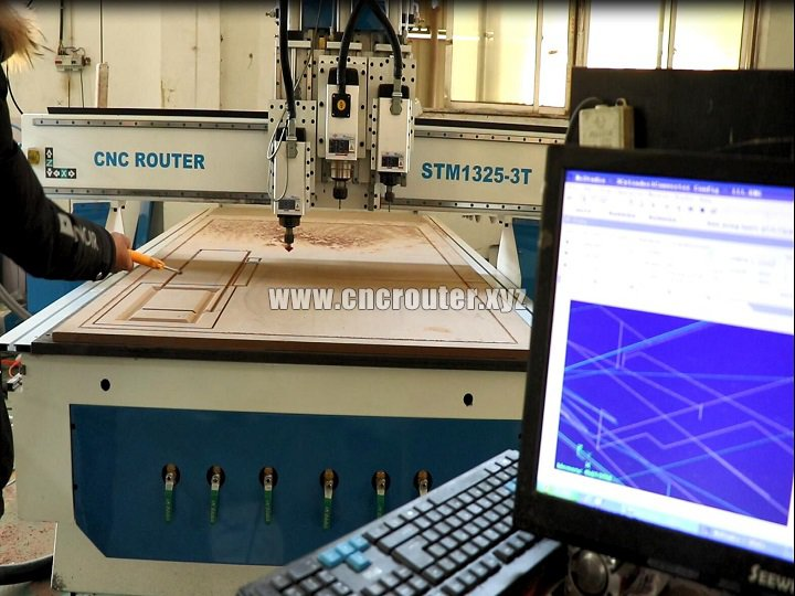 Multi spindles CNC router free training in our factory