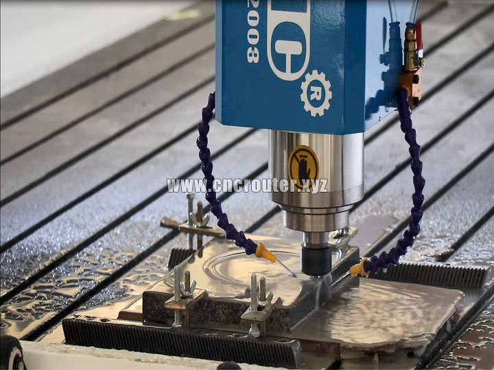 CNC router with Yaskawa servo motor for marble processing