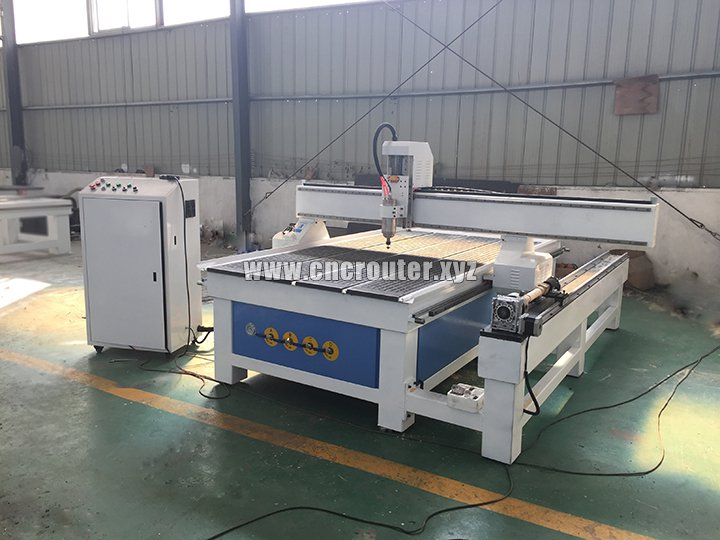 CNC woodworking machine with rotary device