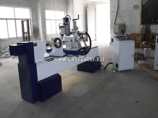 Delivered two customized color CNC wood lathe machine to Iranian client