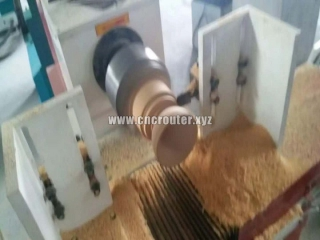 CNC wood lathe for making wooden bowl