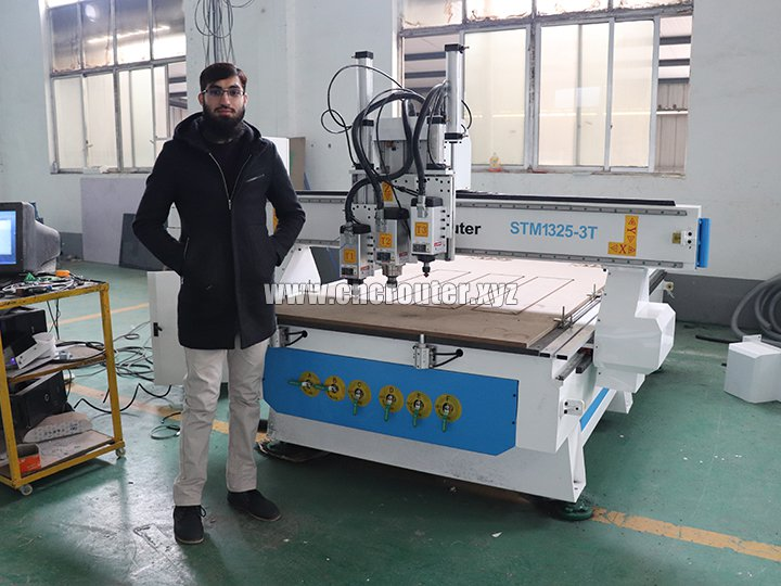 Thanks for STYLECNC team give me a wonderful three spindles cnc router
