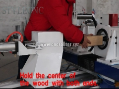 How to install the tools for CNC wood turning lathe.