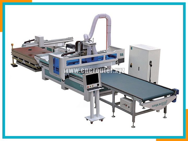 Intelligent full automatic CNC router for panel furniture production