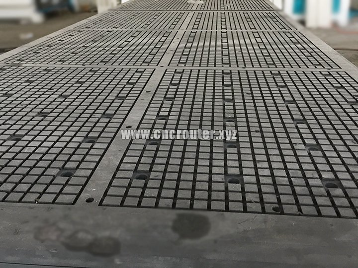 double compact grade laminate vacuum table with vacuum zones for cnc router 1325