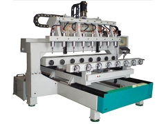 8 heads 4 axis rotary CNC router