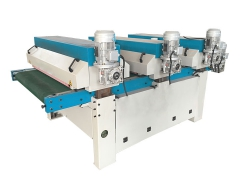 Automatic wood sanding and polishing machine