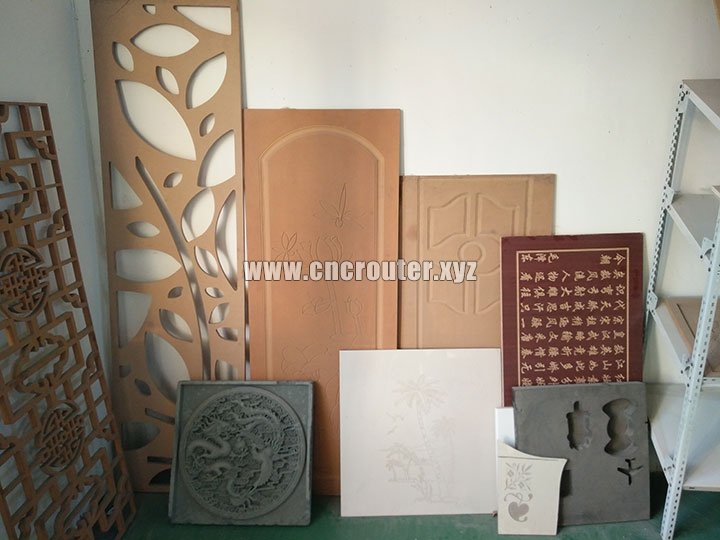 wood samples of cheap cnc router