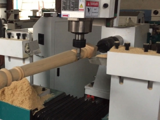 STYLECNC® 3 axis system CNC wood lathe machine with spindle