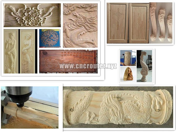 wooden samples of woodworking machine