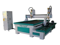 Woodworking Machine with 4 Axis Rotary