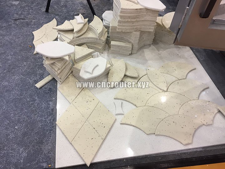 samples of Dual Heads Stone CNC Router Machine