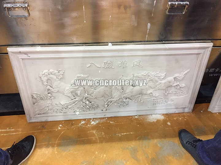 Project of Dual Heads Stone CNC Router Machine