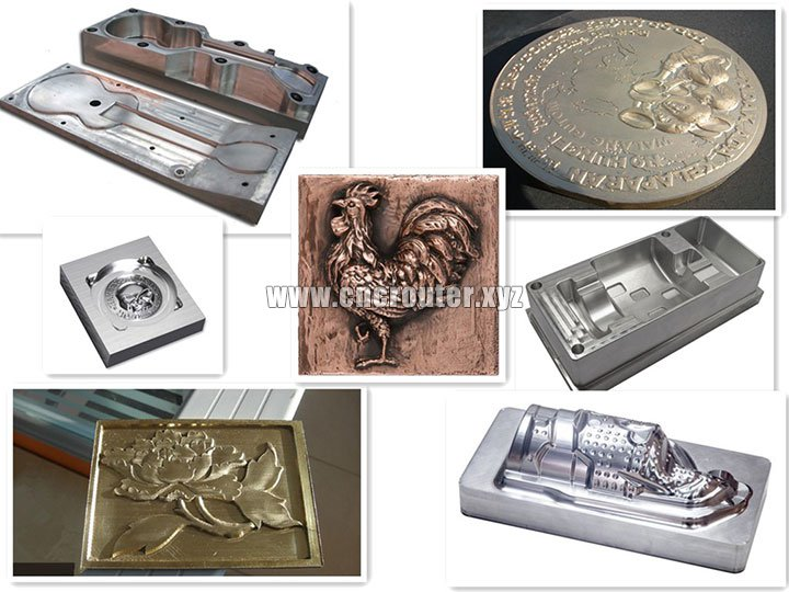 projects of CNC Metal Carving Machine