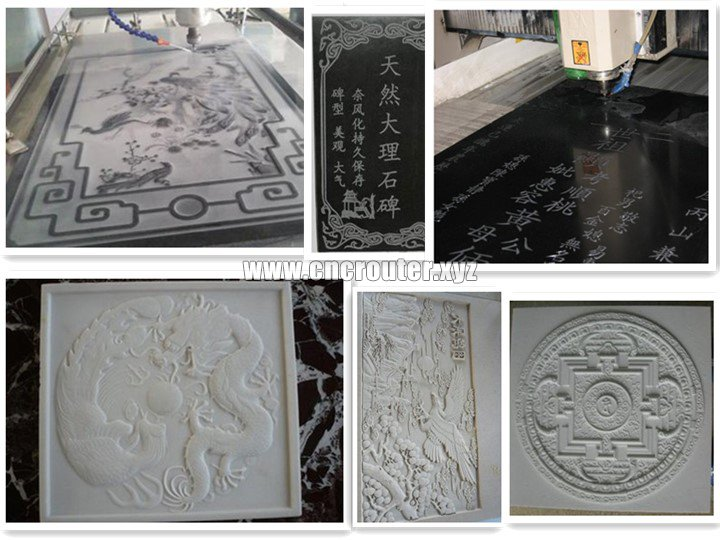 Projects of stone CNC router machine