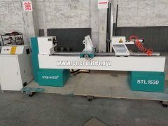 CNC wood turning lathe machine is ready for to delivery Indonesia