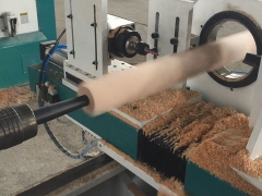 How to use the CNC wood lathe machine for turning and carving working