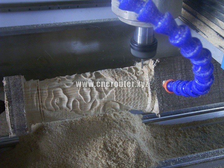 cnc router with 4th axis rotary