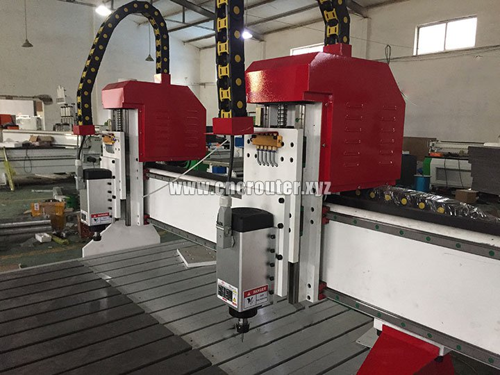 CNC router with ball screw transmission