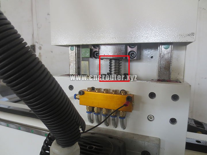 the ball screw  CNC router