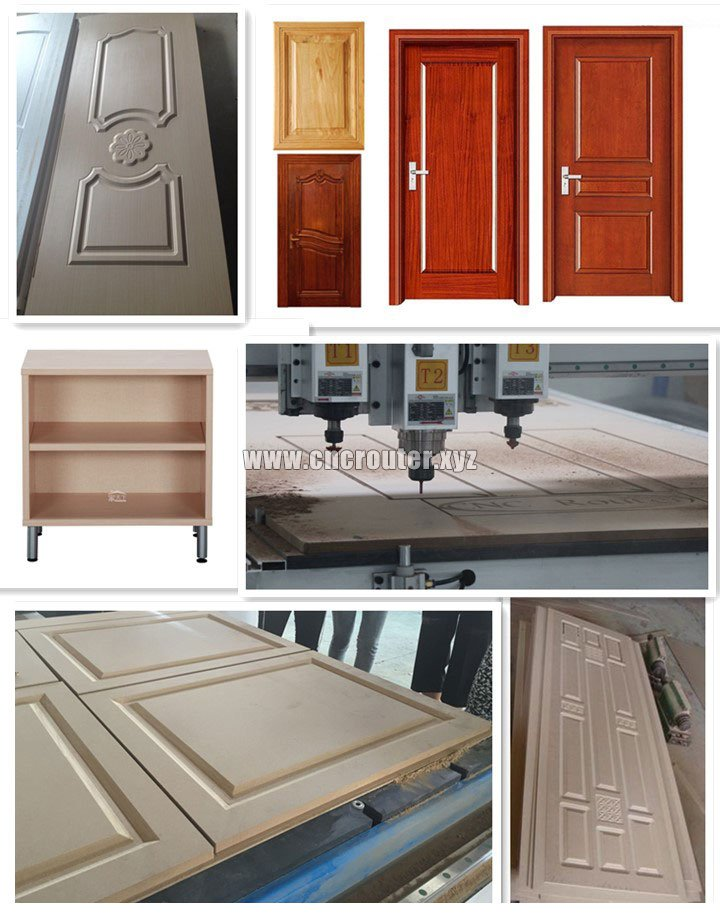 Projects of three spindles 1325 CNC wood machine