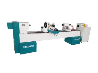STL2030 CNC wood lathe machinery with air cooled spindle