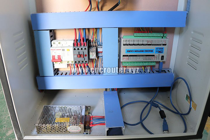 Mach3 control system of wood sheet cutting machine with 4 axis rotary