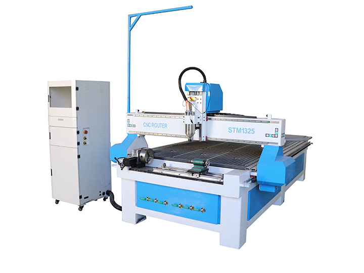 wood sheet cutting machine with 4 axis rotary
