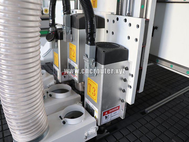 Three air cooling spindle