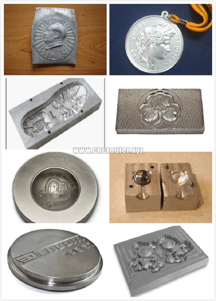 Samples of CNC router for mold making