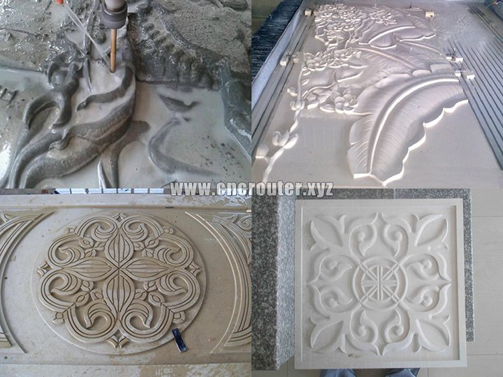 application of stone carving machine