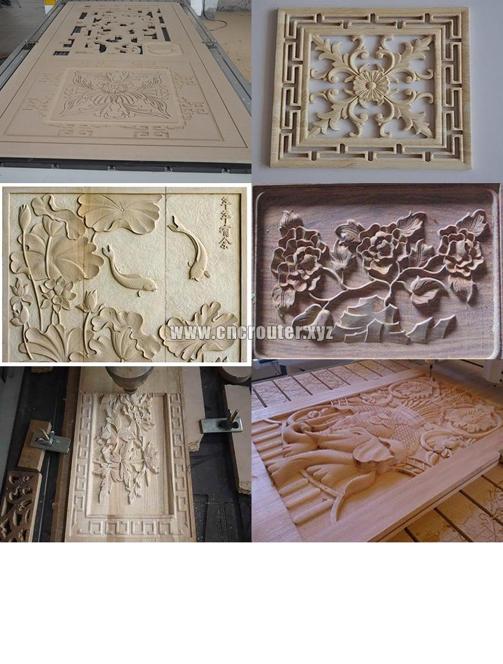 Samples of CNC wood router machine